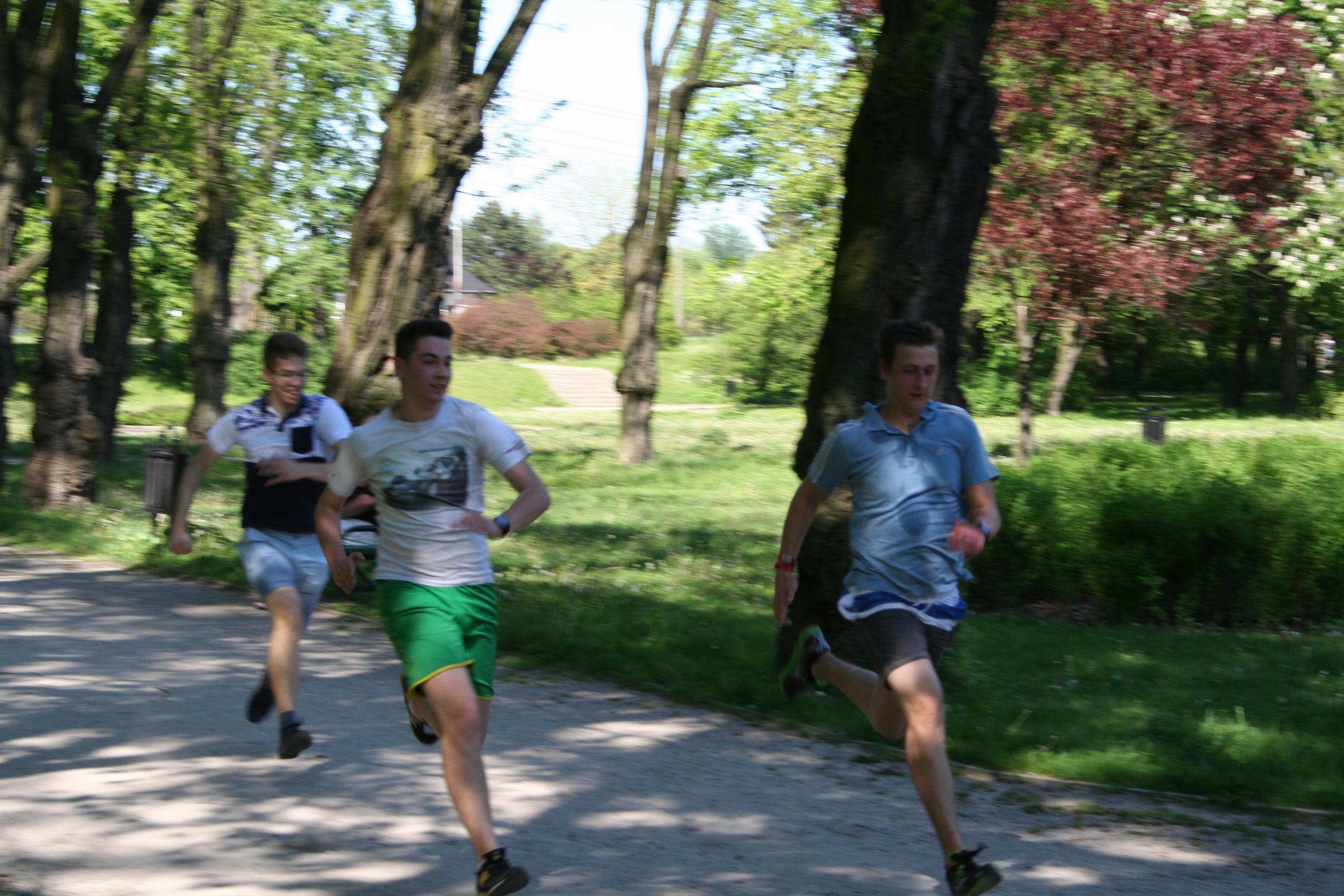 Trening przed Biegiem Ulicą Piotrkowską