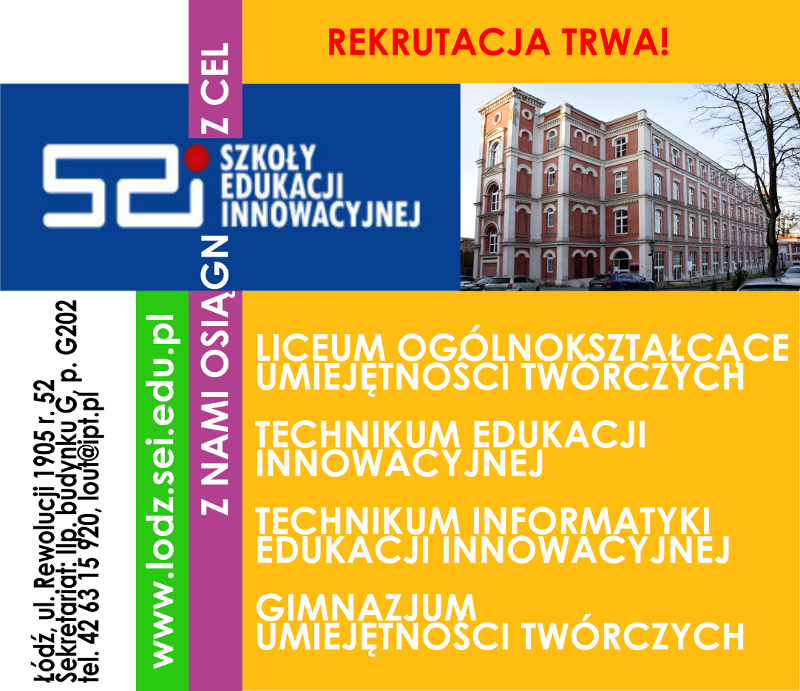 rekrutacja do szkół SEI w Łodzi