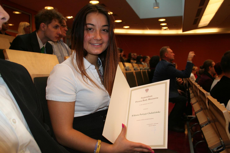 Stypendia Prezesa Rady Ministra dla uczniów liceum w Łodzi